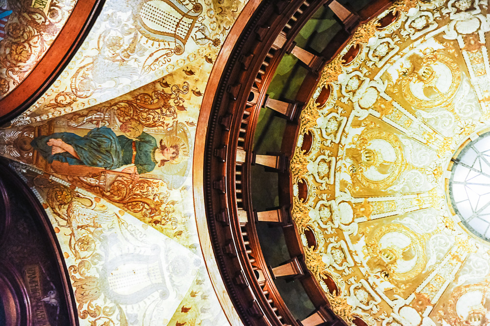 The dome ceiling of a building at Flagler College